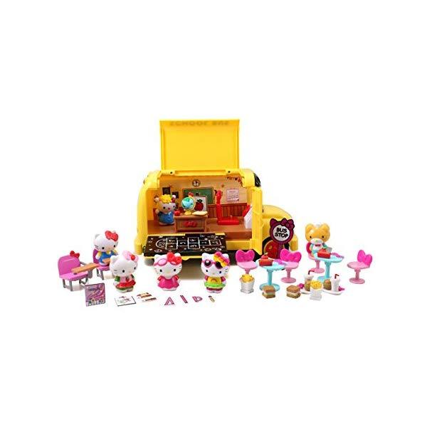 キティーちゃん ハローキティ グッズ ブロック おもちゃ スクールバス セット Jada Toys Hello Kitty Play Set