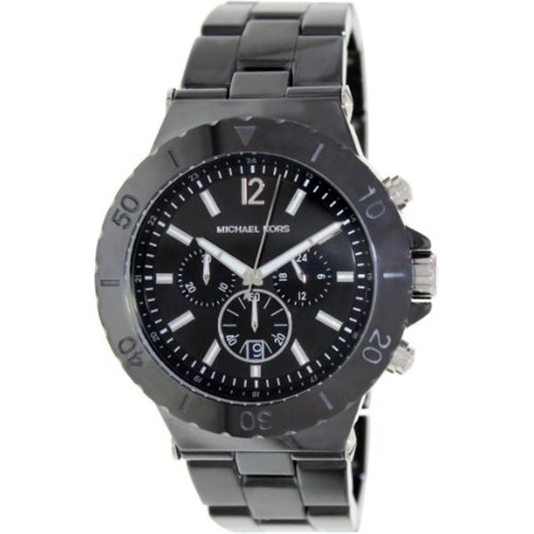 マイケルコース Michael Kors メンズ 腕時計 時計 Michael Kors Men's Chronograph Black Watch MK8225