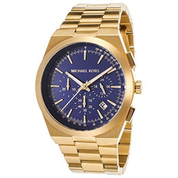 """マイケルコース Michael Kors メンズ 腕時計 時計 Michael Kors Men""""s MK8338 - Channing Gold/Navy Watch"""