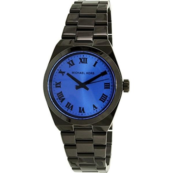 マイケルコース Michael Kors レディース 腕時計 時計 Michael Kors Channing Blue Dial Black Ion-plated Watch MK5993