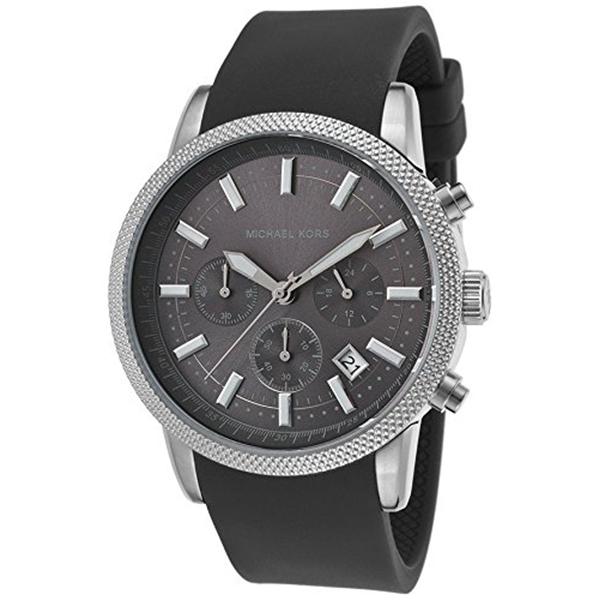マイケルコース Michael Kors メンズ 腕時計 時計 Michael Kors Men's Scout Chrono Rubber Watch - Grey