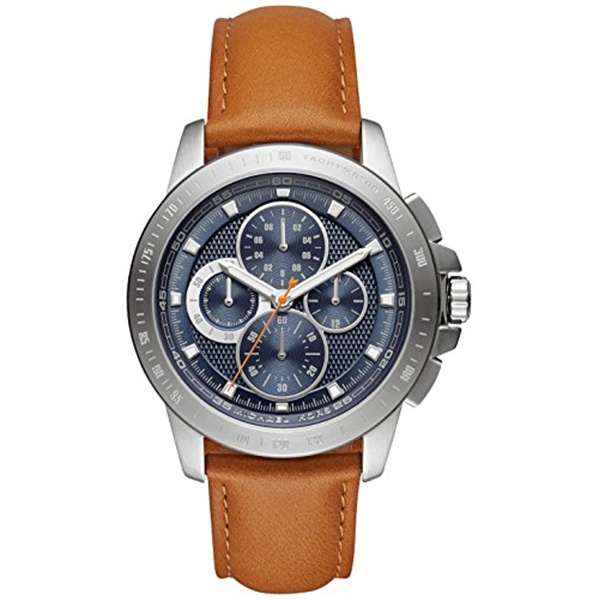 <title>マイケルコース Michael Kors メンズ 腕時計 時計 Men's 買い取り Chronograph Ryker Luggage Leather Strap Watch 43mm MK8518</title>