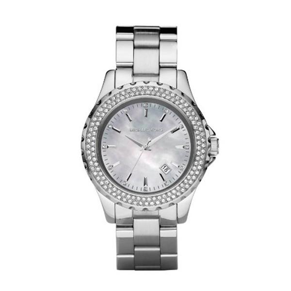 マイケルコース Michael Kors レディース 腕時計 時計 Michael Kors MK5451 Ladies Jet Set Mop Dial Stainless Steel Bracelet Watch