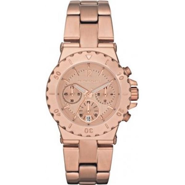マイケルコース Michael Kors レディース 腕時計 時計 Michael Kors Chronograph Rose Gold-tone Ladies Watch MK5499