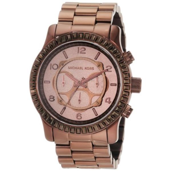マイケルコース Michael Kors レディース 腕時計 時計 Michael Kors Women's MK5543 Runway Chocolate Chronograph Watch
