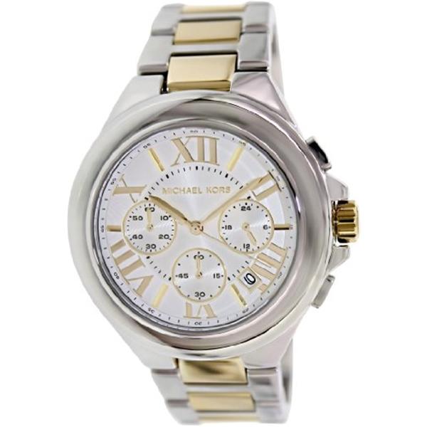 マイケルコース Michael Kors レディース 腕時計 時計 Michael Kors Women's MK5653 Camille Chronograph Silver/Gold Watch