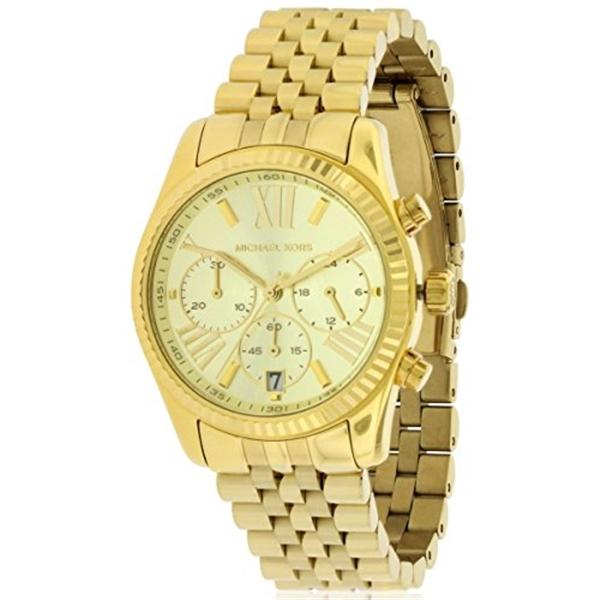 マイケルコース Michael Kors レディース 腕時計 時計 Michael Kors MK5556 Ladies Gold Plated Chronograph Watch