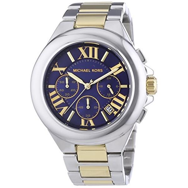 マイケルコース Michael Kors レディース 腕時計 時計 Michael Kors Women's Camille Two Tone Bracelet Blue Dial Watch MK5758