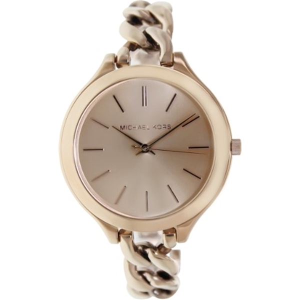 マイケルコース Michael Kors レディース 腕時計 時計 Michael Kors Women's MK3223 Slim Runway Rose Gold-Tone Stainless Steel Bracelet Watch