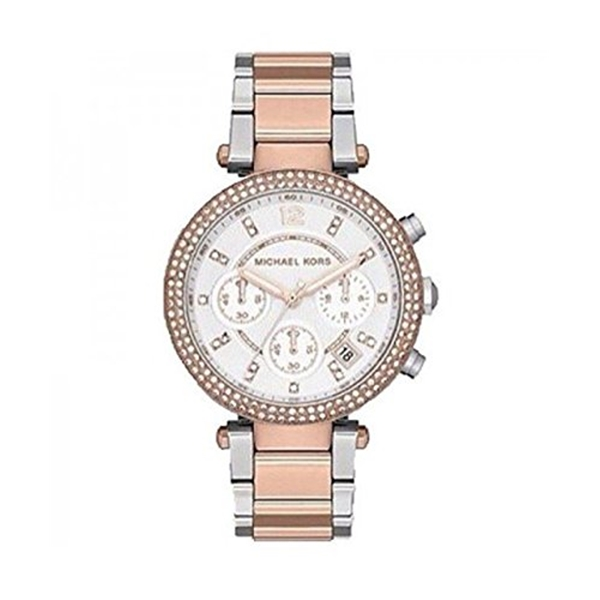 マイケルコース Michael Kors レディース 腕時計 時計 Michael Kors Ladies Two-Tone Rose Gold Chronograph Date Watch MK5820
