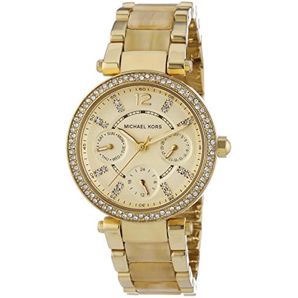 マイケルコース Michael Kors レディース 腕時計 時計 Michael Kors Mini Parker Crystal Bezel Ladies Watch MK5842