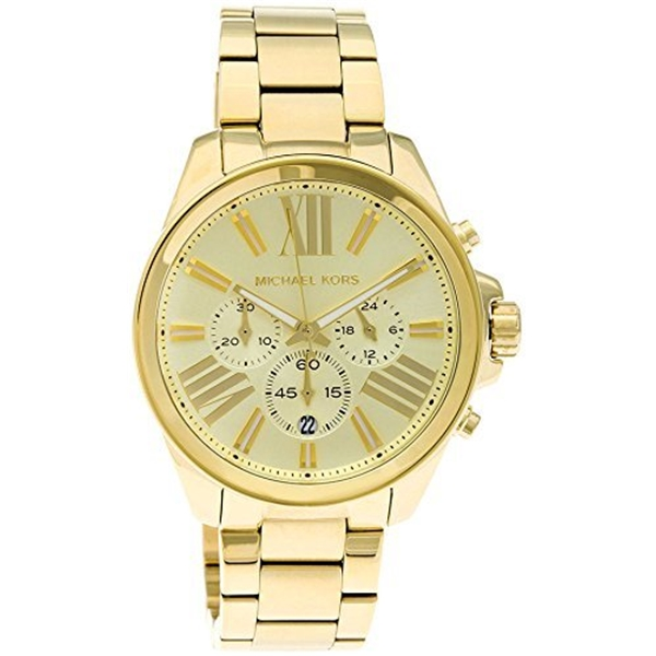 マイケルコース Michael Kors レディース 腕時計 時計 Michael Kors MK5711 Women's Gold Tone Stainless Steel Bracelet Chronograph Watch
