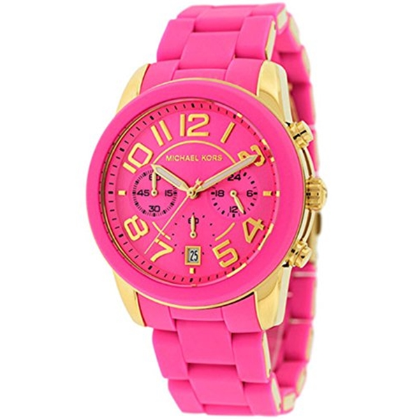 マイケルコース Michael Kors レディース 腕時計 時計 Michael Kors Women's MK5890 Chronograph Mercer Pink Silicone Chronograph Watch