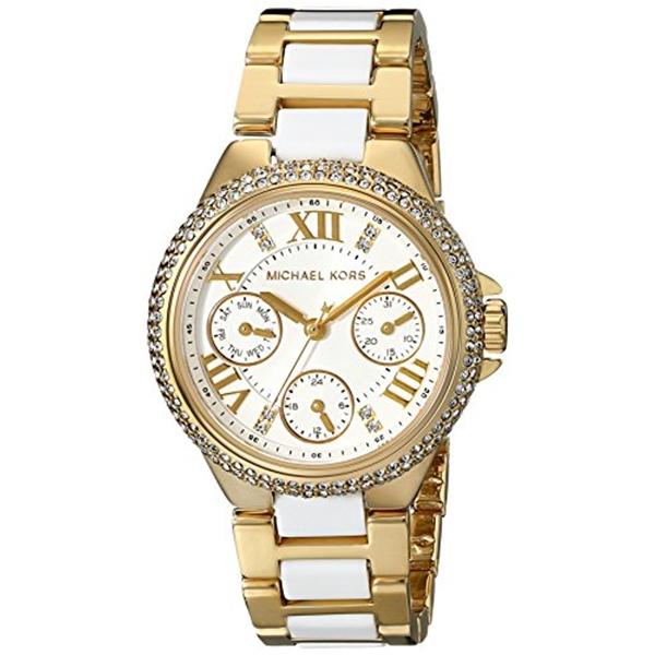 マイケルコース Michael Kors レディース 腕時計 時計 Michael Kors Mini Camille White Dial Quartz Chrono Ladies Watch MK5945
