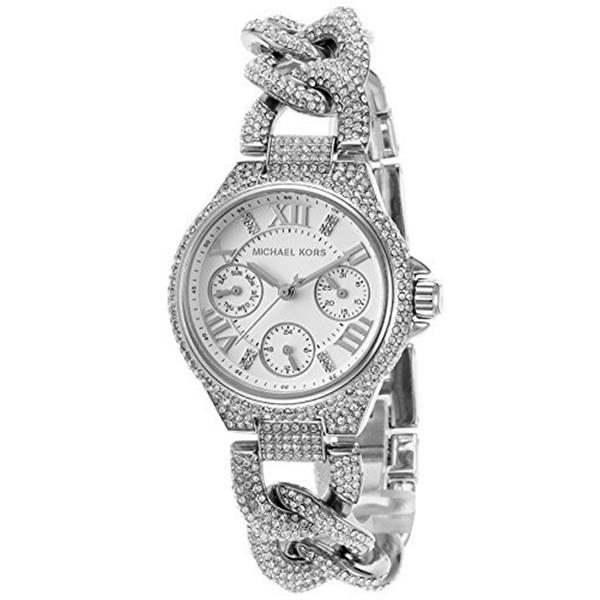 マイケルコース Michael Kors レディース 腕時計 時計 Michael Kors Women's Mini Camille Collection Watch, Clear/Silver, One Size