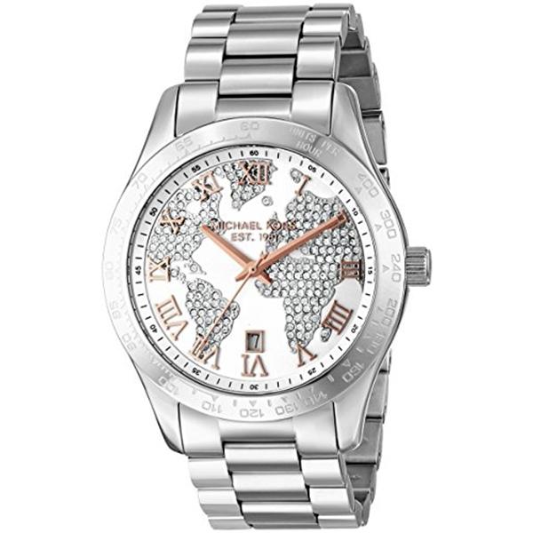 マイケルコース Michael Kors レディース 腕時計 時計 Michael Kors Women's Global Glam Layton Watch, Silver, One Size