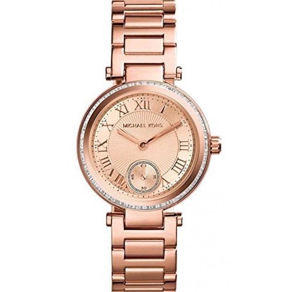 マイケルコース Michael Kors レディース 腕時計 時計 Michael Kors Skylar Rose Dial Rose Tone SS Quartz Multi Woman's Watch MK5971
