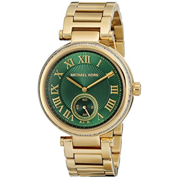 マイケルコース Michael Kors レディース 腕時計 時計 Michael Kors Women's Skylar Watch, Gold/Green, One Size