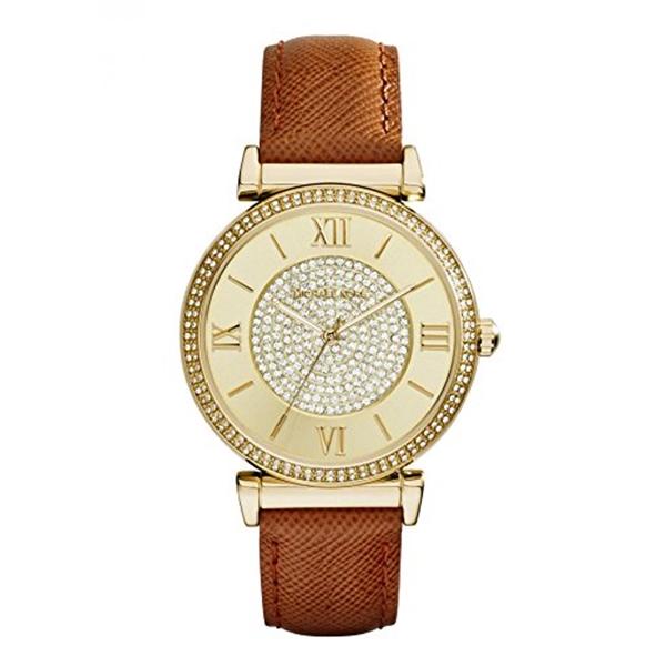 マイケルコース Michael Kors レディース 腕時計 時計 Michael Kors Watches Catlin Leather Watch (Brown)