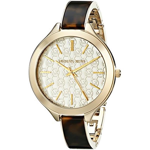 マイケルコース Michael Kors レディース 腕時計 時計 Michael Kors Women's Slim Runway Gold-Tone Watch MK4293
