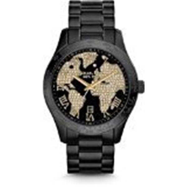 マイケルコース Michael Kors レディース 腕時計 時計 Michael Kors Layton World Atlas Pave Dial SS Quartz Ladies Watch MK6091