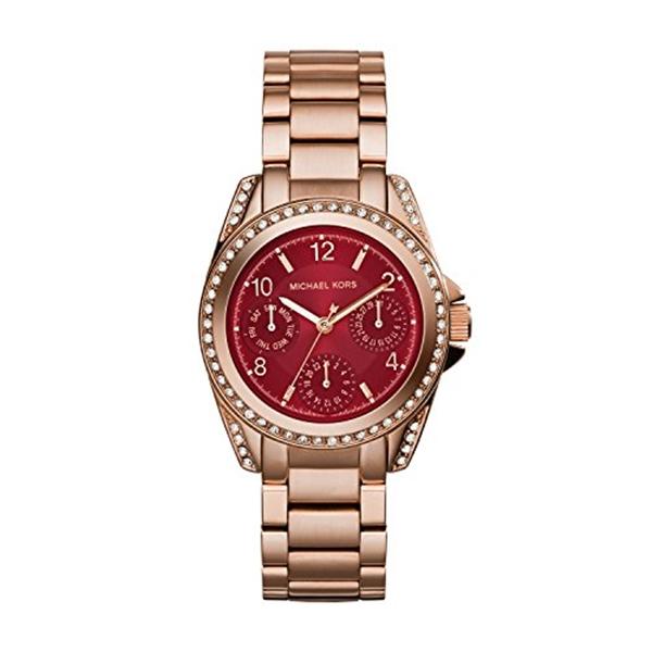 マイケルコース Michael Kors レディース 腕時計 時計 Michael Kors MK6092 Ladies Blair Rose Gold Plated Watch