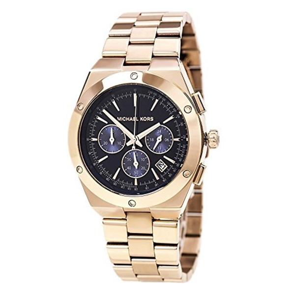 マイケルコース Michael Kors レディース 腕時計 時計 Michael Kors Women's Reagan Watch, Rose Gold/Navy, One Size