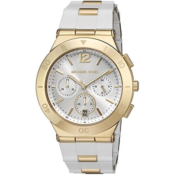 マイケルコース Michael Kors レディース 腕時計 時計 Michael Kors Watches Wyatt Chronograph Stainless Steel Watch (White)