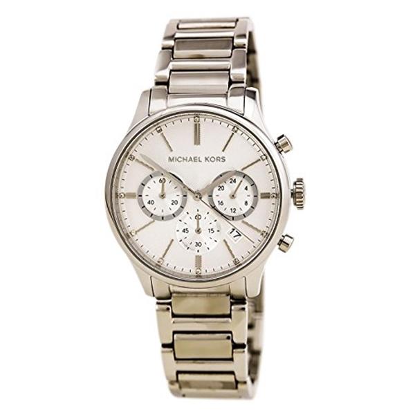 マイケルコース Michael Kors レディース 腕時計 時計 Michael Kors Chronograph Silver Tone Stainless Steel Watch MK5985