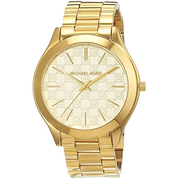 マイケルコース Michael Kors レディース 腕時計 時計 Michael Kors Slim Runway Champagne Dial Gold-tone Stainless Steel Ladies Watch MK3335