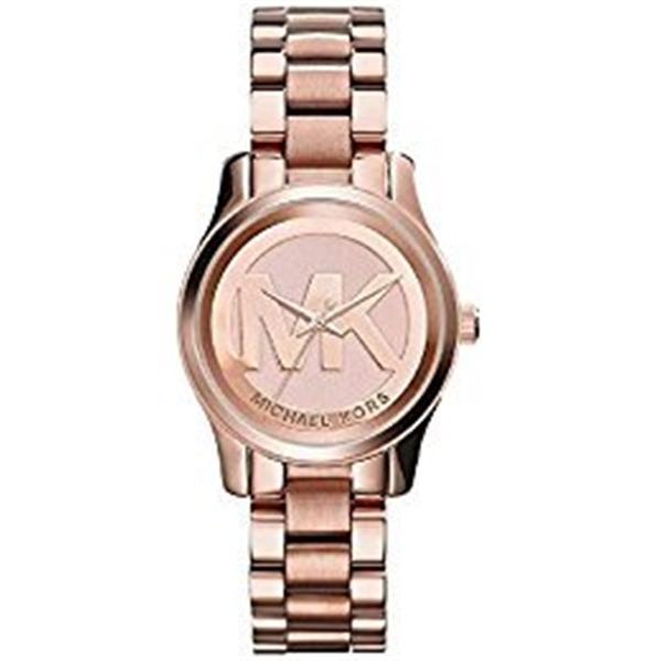 """マイケルコース Michael Kors レディース 腕時計 時計 Michael Kors Women""""s Mini Runway Rose Gold-tone Stainless Steel Bracelet Watch 33mm Mk3334"""
