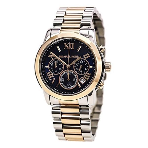 マイケルコース Michael Kors レディース 腕時計 時計 Michael Kors Women's Cooper Watch, Silver/Rose Gold/Navy, One Size