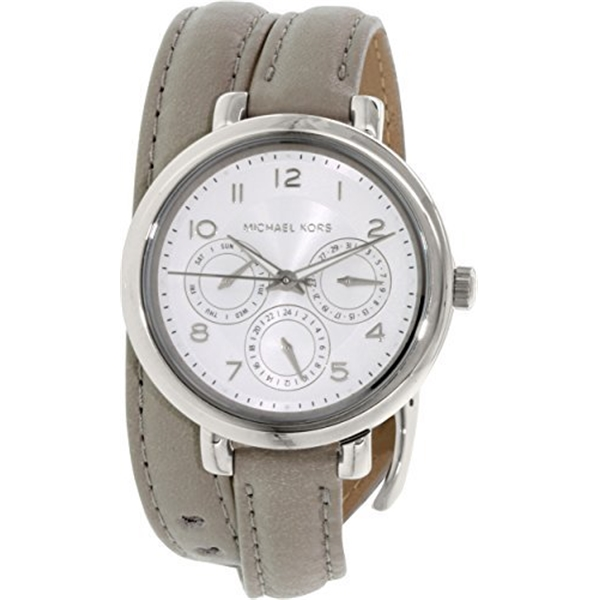 マイケルコース Michael Kors レディース 腕時計 時計 Michael Kors Gray Dial SS Tan Leather Multi Quartz Ladies Watch MK2403