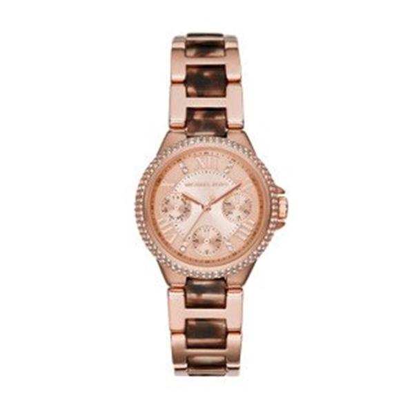 マイケルコース Michael Kors レディース 腕時計 時計 Michael Kors Rose Gold-Tone Mini Camille Women's Watch