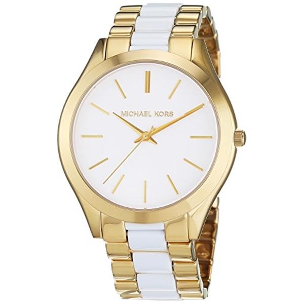 マイケルコース Michael Kors レディース 腕時計 時計 Michael Kors Slim Runway White Dial Stainless Steel Quartz Ladies Watch MK4295