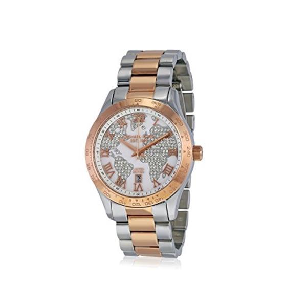 マイケルコース Michael Kors レディース 腕時計 時計 Michael Kors MK6129 Two-Tone Ladies Watch - White Crystel Dial