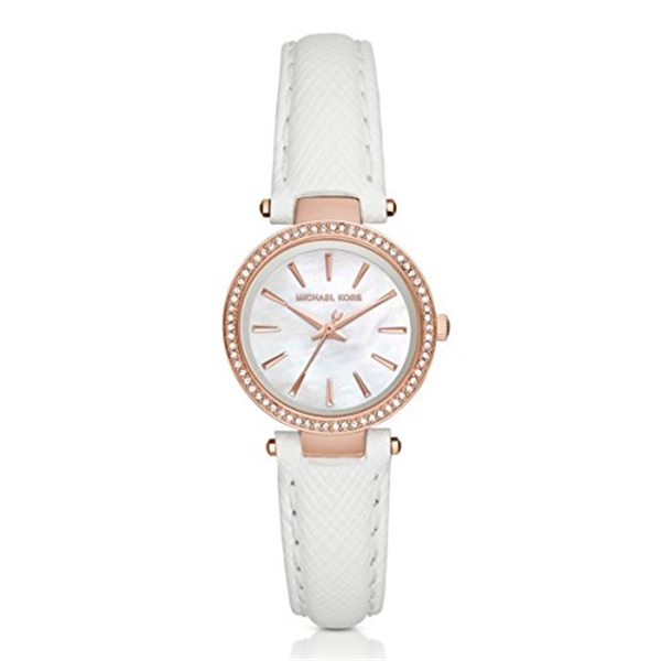 decad03a1225 腕時計 時計 Michael Kors Mini Catlin White Dial Rose Gold-Tone Steel and Ceramic  Ladies Watch ...