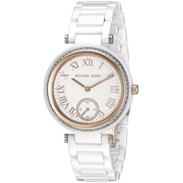 マイケルコース Michael Kors レディース 腕時計 時計 Michael Kors Women's Mini Skylar White Watch MK6240