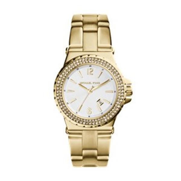 """マイケルコース Michael Kors レディース 腕時計 時計 Michael Kors Jetset Gold-Tone Three Hand Women""""s Watch"""