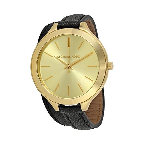 マイケルコース Michael Kors レディース 腕時計 時計 Michael Kors Slim Runway Gold Tone Dial Ladies Watch MK2468