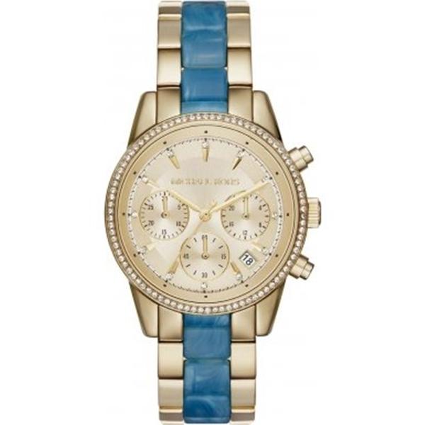 マイケルコース Michael Kors レディース 腕時計 時計 Michael Kors MK6328 Ladies Ritz Gold Chronograph Watch