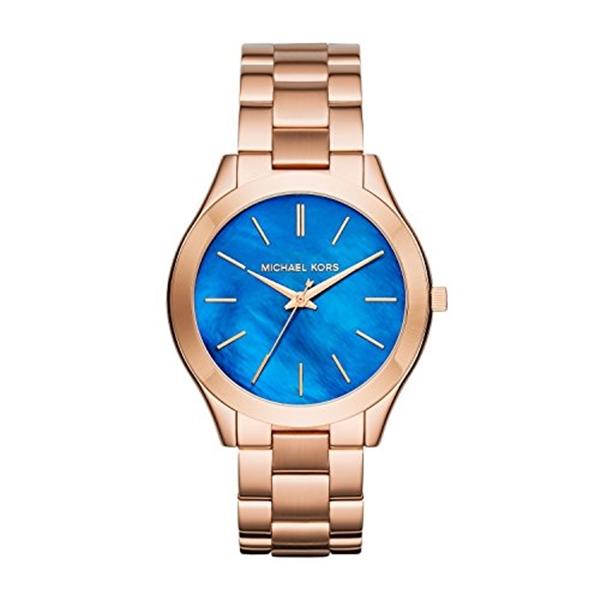 マイケルコース Michael Kors レディース 腕時計 時計 Michael Kors MK3494 Ladies Slim Runway Rose Gold Steel Bracelet Watch
