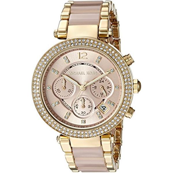 マイケルコース Michael Kors レディース 腕時計 時計 Michael Kors Pink Dial Gold - MK6326 -Fancy Watch