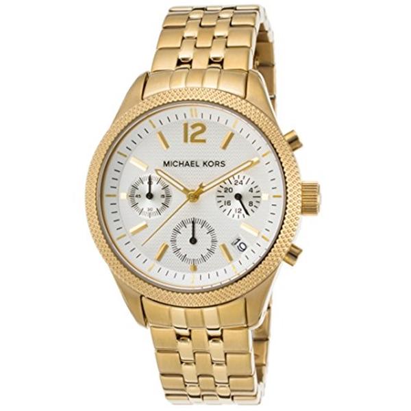 マイケルコース Michael Kors レディース 腕時計 時計 MIchael Kors MK6132 Ritz Gold-Tone Chronograph Women's Watch