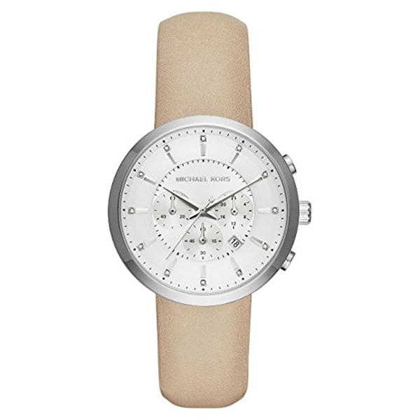 マイケルコース Michael Kors レディース 腕時計 時計 Michael Kors MK2564 Kyler Silver Chronograph Dial Light Tan Leather Strap Women's Watch