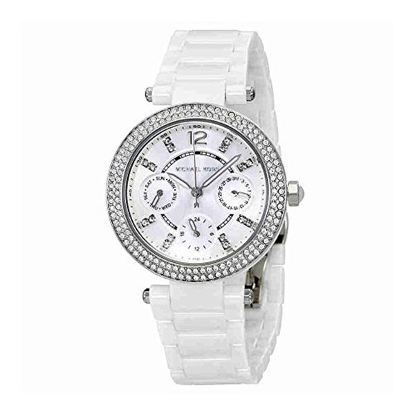 マイケルコース Michael Kors レディース 腕時計 時計 Michael Kors Mini Parker White Dial Ladies Multifunction Watch MK6435
