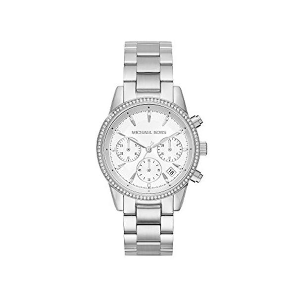マイケルコース Michael Kors レディース 腕時計 時計 Michael Kors Ritz Stainless Steel Chronograph Watch