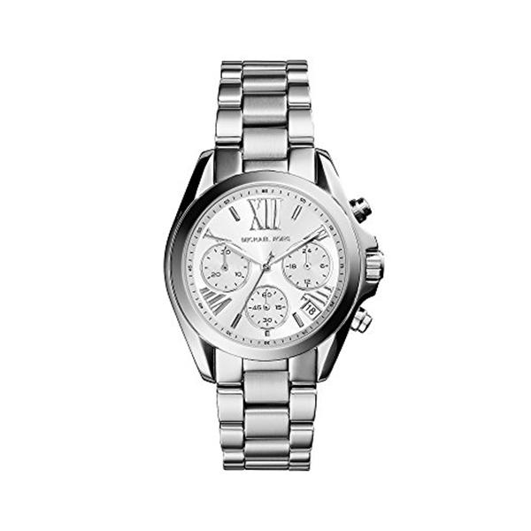 マイケルコース Michael Kors レディース 腕時計 時計 Michael Kors Women's Silvertone Stainless Steel Mini Bradshaw Watch