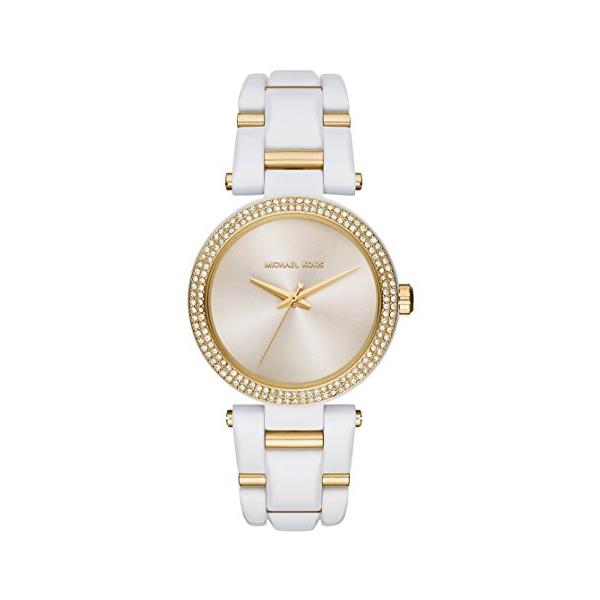 マイケルコース Michael Kors レディース 腕時計 時計 Michael Kors Women's Two-Tone Stainless Steel and Acetate Bracelet Watch 36mm MK4315