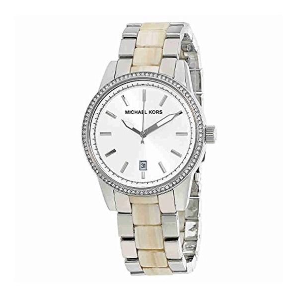 マイケルコース Michael Kors レディース 腕時計 時計 Michael Kors MK6371 Silver Stainless Steel & Acrylic Horn Women's Watch